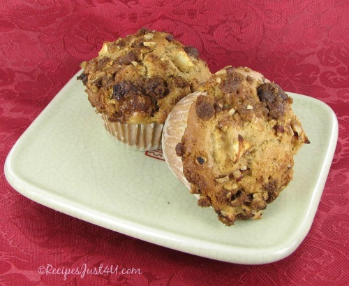 Caramel Apple Buttermilk Muffins