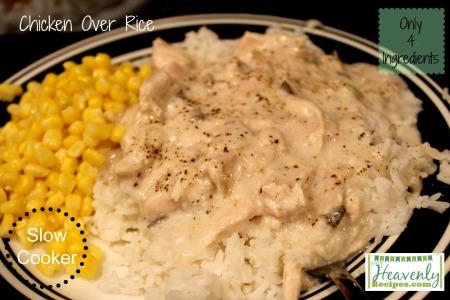 Creamy chicken over rice from myheavenlyrecipes.com