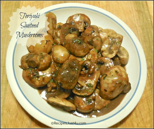 Teriyaki Sauteed Mushrooms