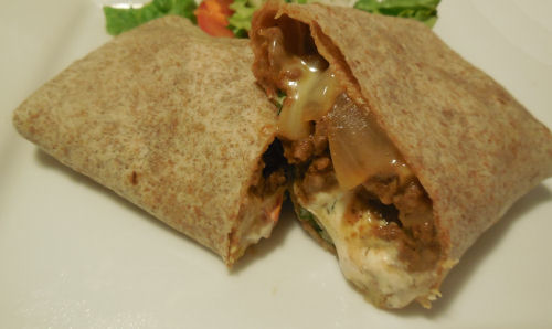 Cheeseburger taco wrap