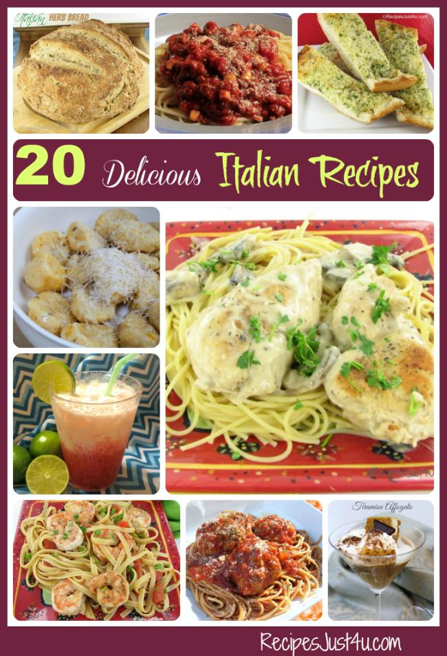 Round up of my favorite Italian recipes - recipesjust4u.com/favorite-italian-recipes