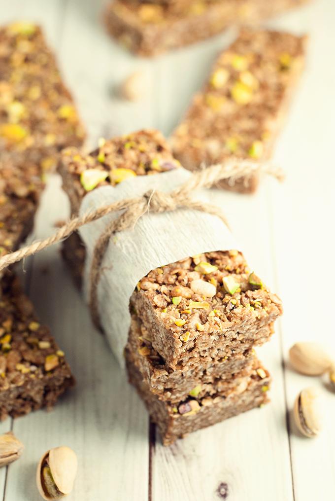 No bake chocolate nut butter granola bars from asimplepantry.com
