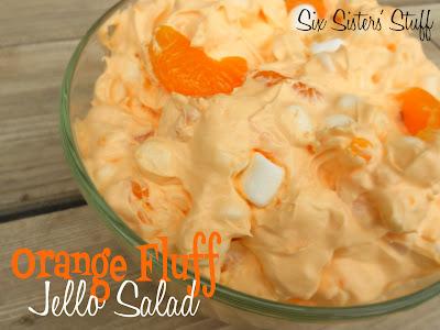 Orange Fluff Jello Salad from sixsistersstuff.com