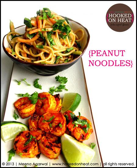 Peanut noodles from hookedonheat.com