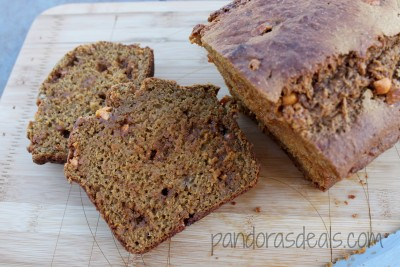 Almost fat free Banana and Butterscotch Bread from seemomclick.com