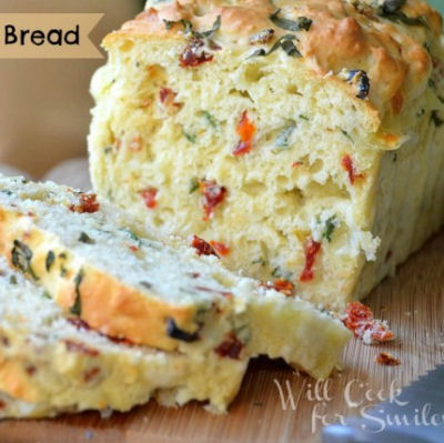 Savory Caprese Bread from willcookforsmiles.com