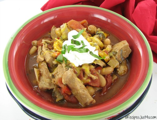 Crock pot chicken chili