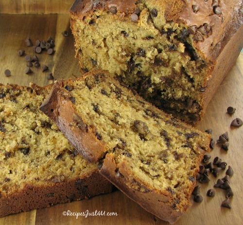 Chocolate chip banana bread is a great savory bread choice