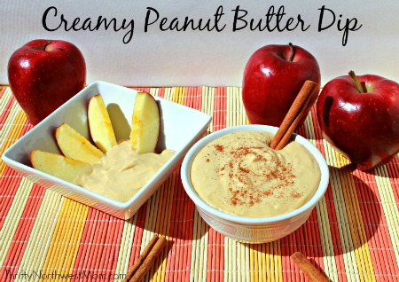 Creamy peanut butter dip from thriftynorthwestmom.com