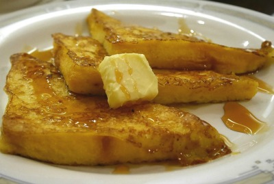 spread mashed banana on bread and dip in egg/milk mixture for rich French Toast.
