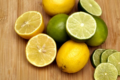 Use lemons with dark spirits and lime with clear