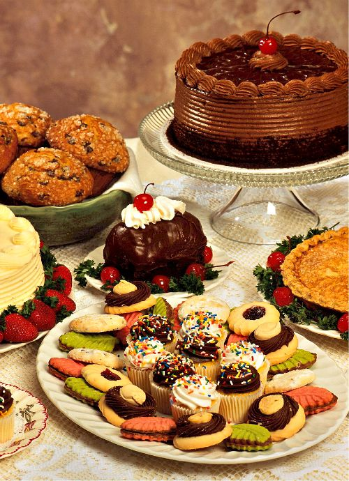 levels are important on a dessert table.