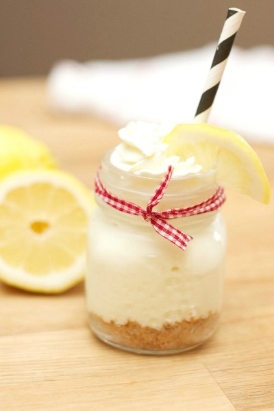 No bake lemonade cheesecake from spaceshipsandlaserbeams.com