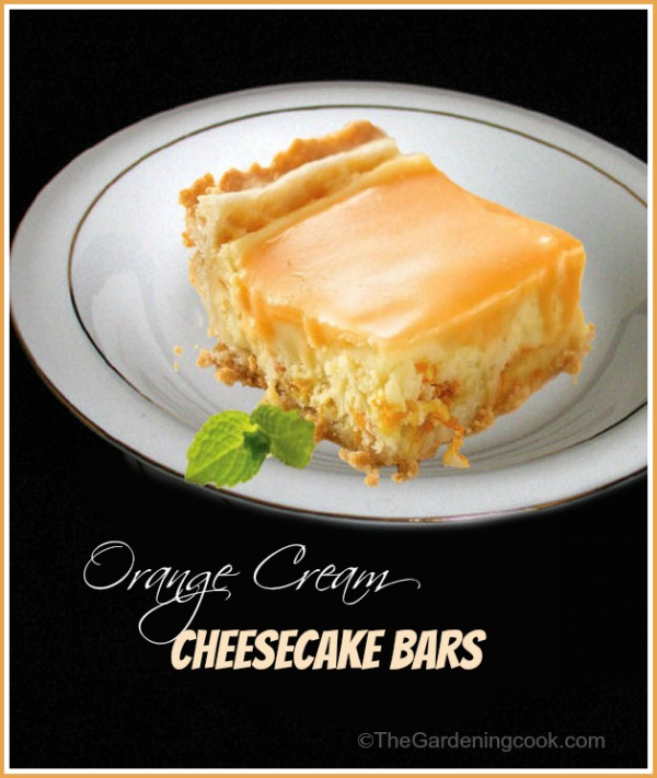 Orange Cream cheesecake bars