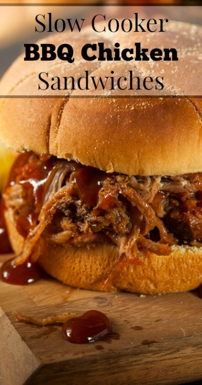 Slow cooker barbeque chicken sandwich from oursmallhours.com