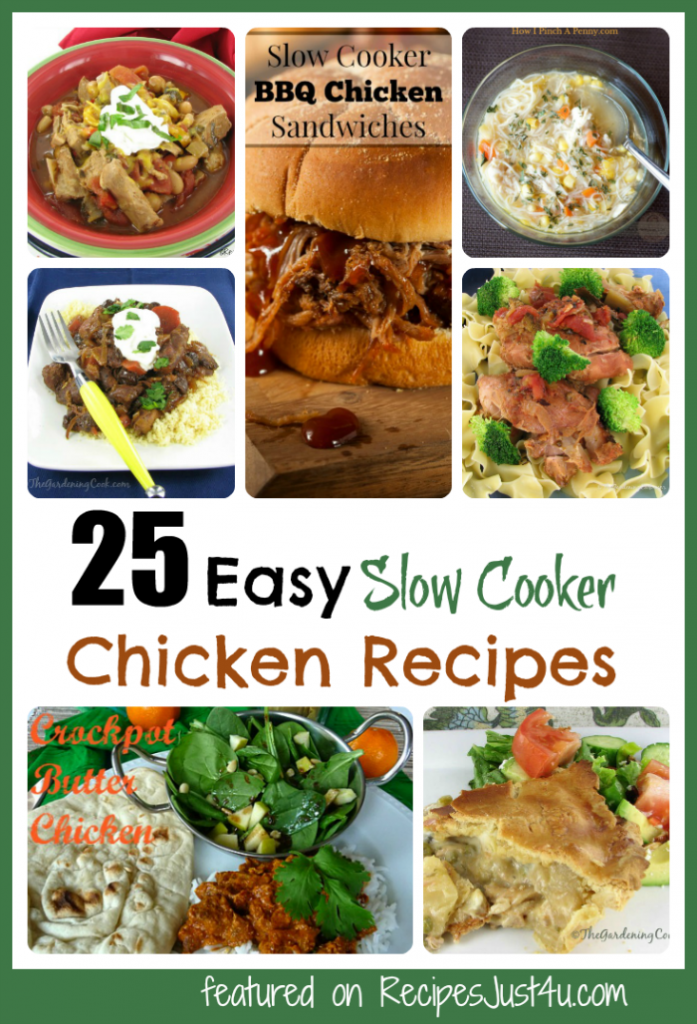 25 Easy Slow cooker Chicken Recipes