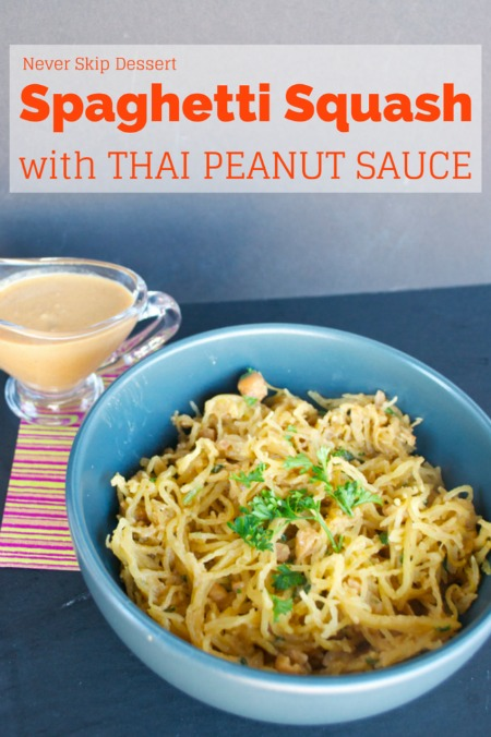 Spaghetti sauce with Thai peanut sauce from neverskipdessertblog.com
