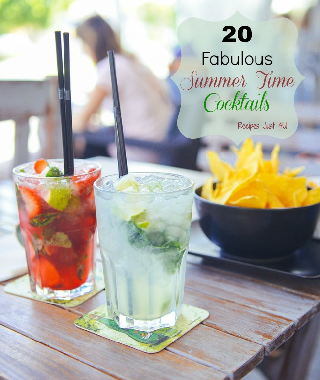 Brighten up your summer time evenings with one of these 25 fabulous summer cocktails