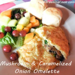 Mushroom and Caramelized Onion Omelette from The Gardening Cook