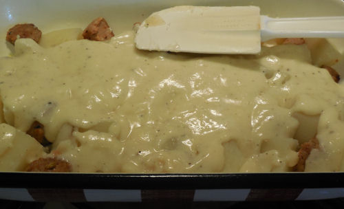 Add cheese sauce