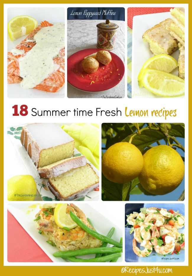 These summer time fresh recipes all have lemons as the star.
