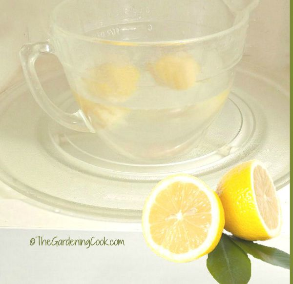 clean a microwave in minutes with lemons