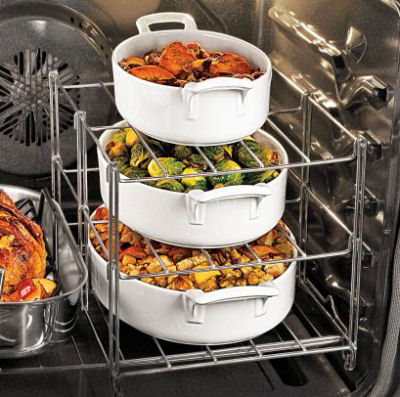 Multi tier oven rack