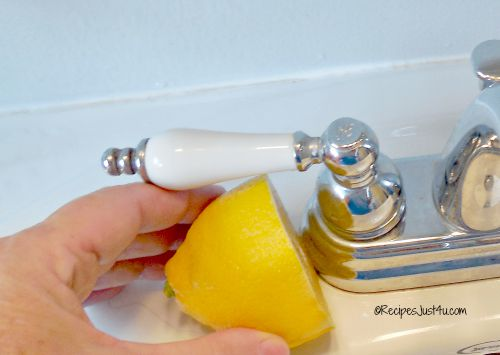 half a lemon is good for lime scale on faucets