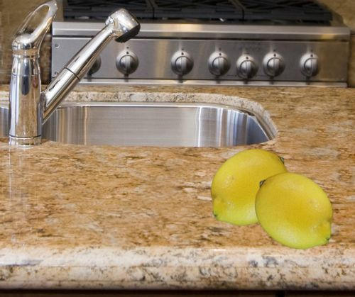 use lemons to clean granite countertops