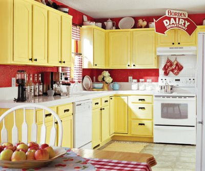 yellow country kitchens. Vibrant Colors For A Nostalgic Look. Yellow Country Kitchens U