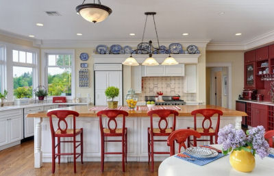 Colorful Country Kitchen With Style