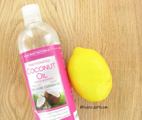 coconut oil and lemon juice is a great face freshener