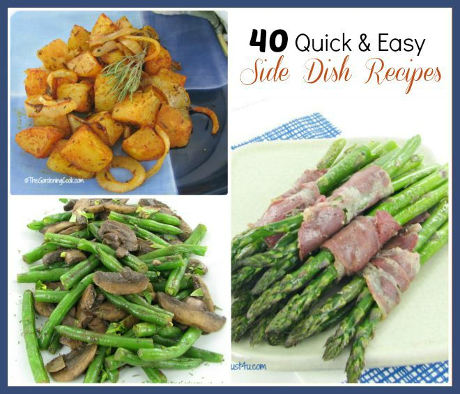Main Courses Side Dishes: Quick And Easy Side Dishes
