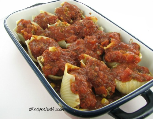 stuffed shells in sauce