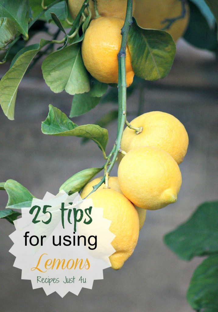 Lemons are not just for making lemonade. See my 25+ tips for using them in the home and for beauty and health reasons.
