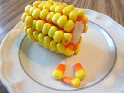 Corn on the Cob with Candy corn from instructables.com