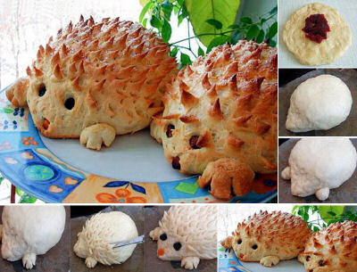 Bread Hedgehogs from goodshomedesign.com