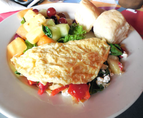Greek Omelette with Artichokes and Feta Cheese