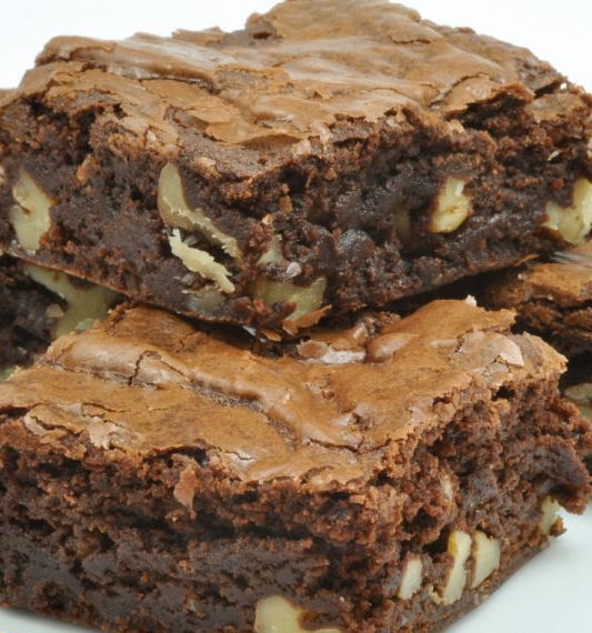 Rich Chocolate Brownie with Pecans - from The Gardening Cook