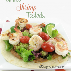 Grilled Shrimp Tostada