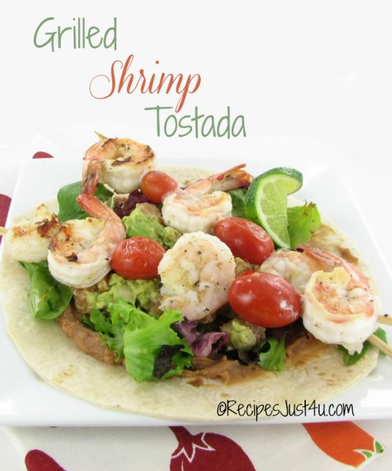 Grilled Shrimp Tostada