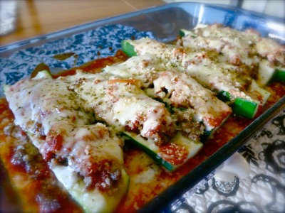 Sausage stuffed zucchini from womenlivingwell.com