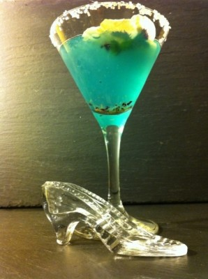 Cinderella Glass Slipper Cocktail