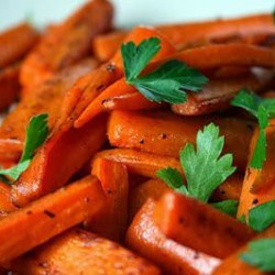 Vanilla and Honey Glazed Carrots