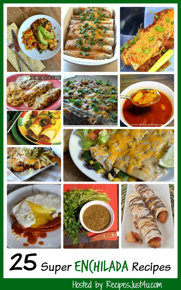 25 of my favorite enchilada recipes, the group includes 3 home made enchilada sauces too.