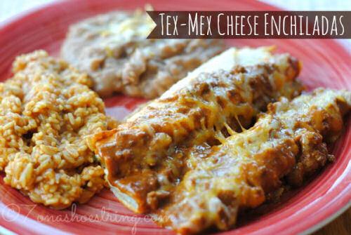 Easy Tex Mex Cheese enchiladas