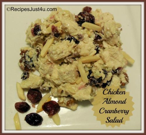Chicken Cranberry Almond Walnut Salad