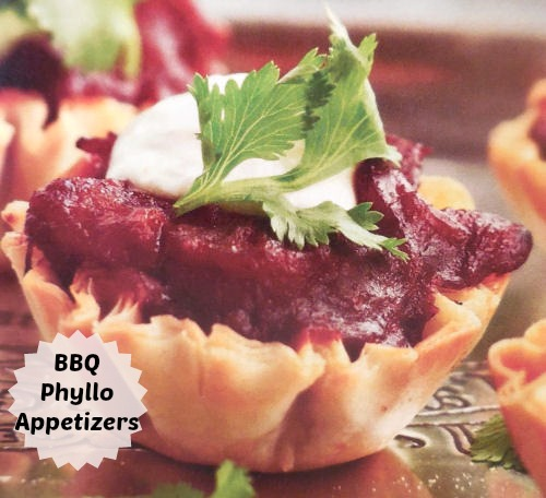 BBQ Phyllo Pastry Appetizers
