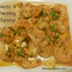 Grilled shrimp with garlic and parsley