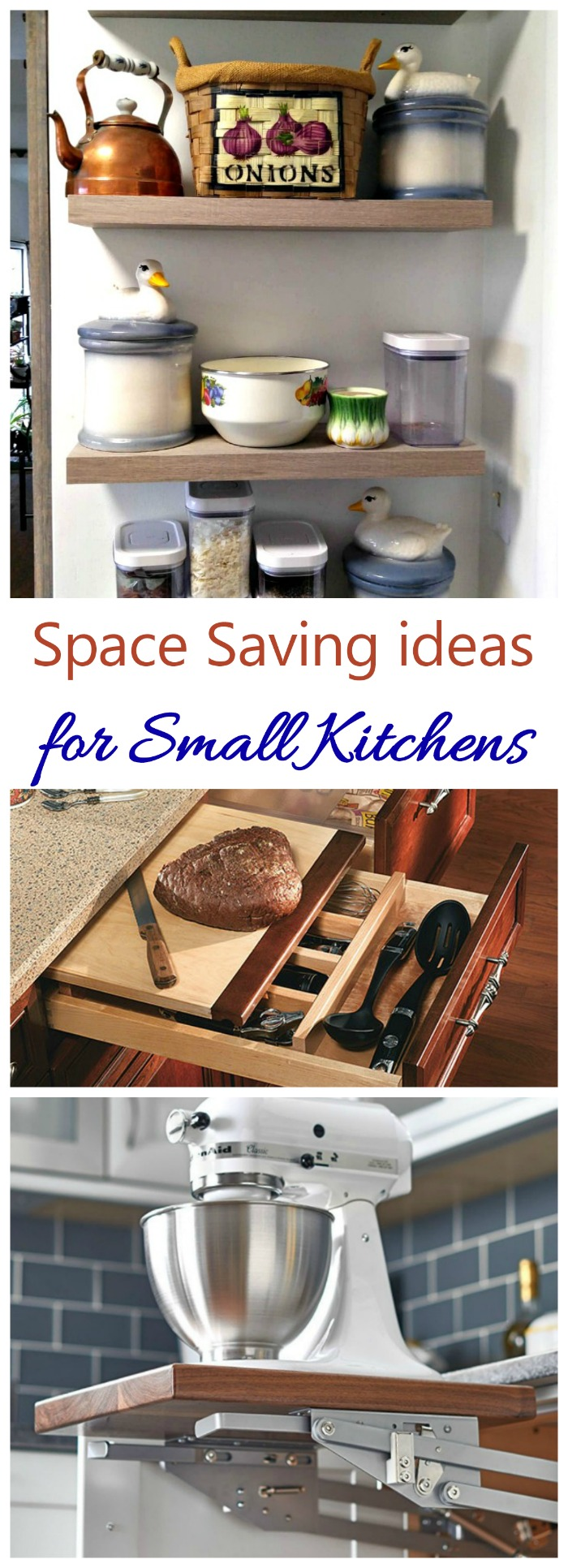 These space saving kitchen ideas will make the most of the space you have in your tiny kitchen.
